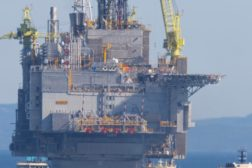 Hebron oil platform reaches final destination in N.L.'s Grand Banks
